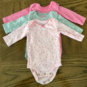 Child of Mine by Carters Long Sleeve Bodysuits